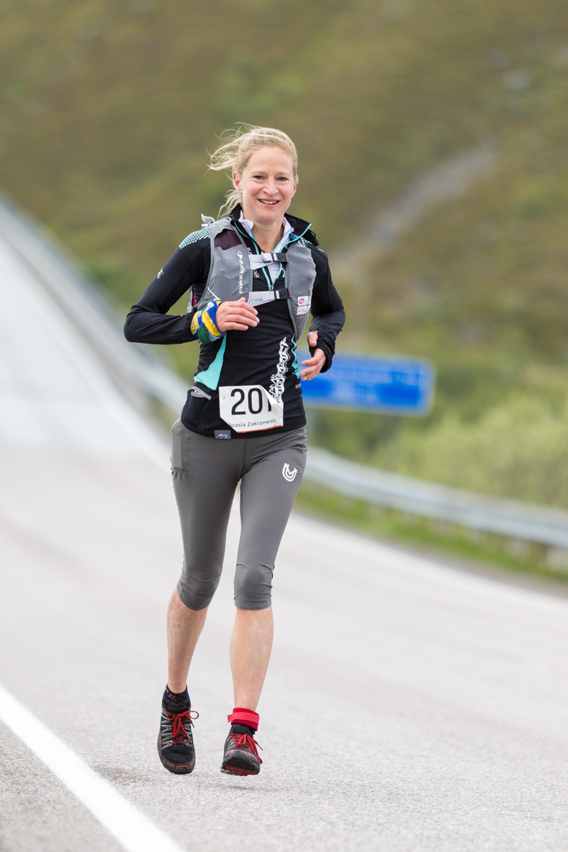 Joanna Zakrzewski, winner of the 50 km race of the Lofoten Ultra Trail 2016.